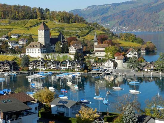 Spiez, Sveits: Area View