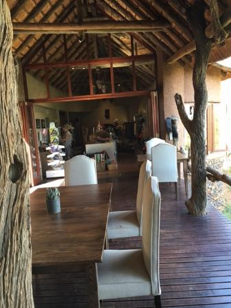 Madikwe Game Reserve, Sudáfrica: main lodge area with view of gift shop