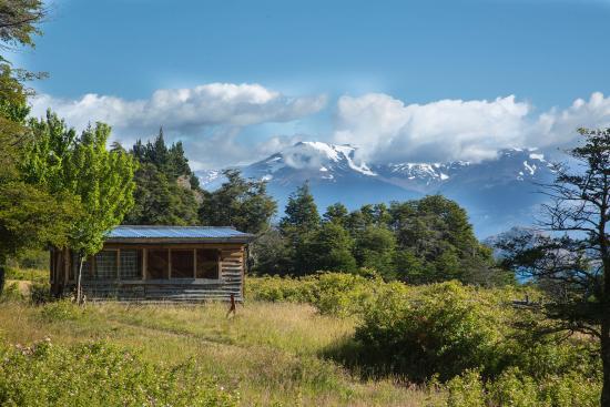 Puerto Guadal, Chili: Vista norte, Andes Patagonicos, Lago General Carrera