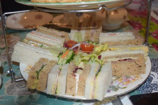 Alcester, UK: Various home made sandwiches and salad
