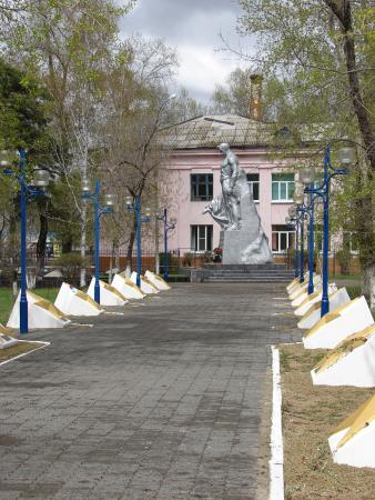 Belogorsk, Russia: Памятник 312 борцам за установления Советской власти.