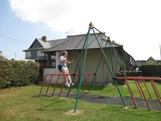 "Wheddon Cross, UK: ""Playground"" next to the Inn."