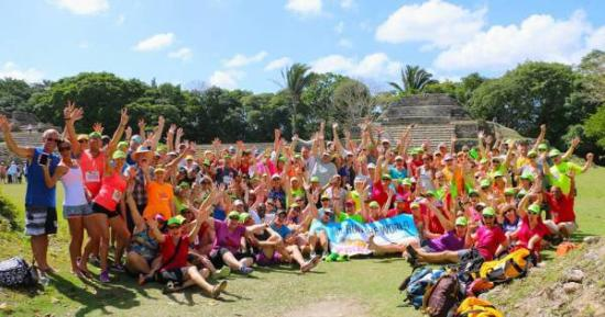 Distrito de Belice, Belice: Runners who we hosted while on visit to Belize - Altun Ha
