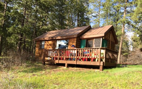 Bayfield, CO: great decks on the cabins