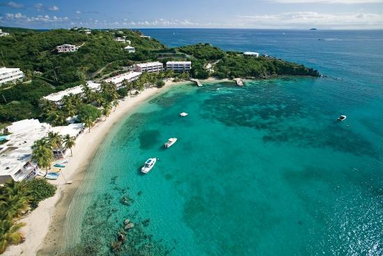 Benner, سانت توماس: Aerial view of Secret Harbour