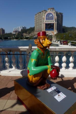 The Venetian Macao Resort Hotel: Venetian Macao Resort - Monkey sculpture (CNY 2016) - 10
