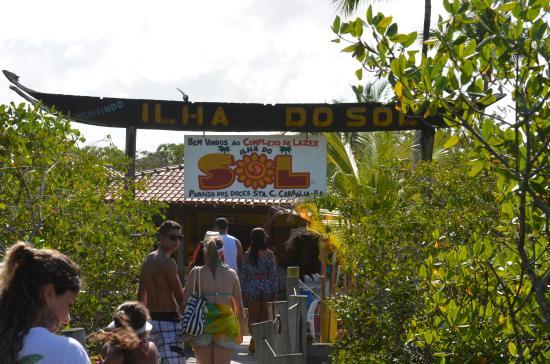 Santa Cruz Cabralia, BA: Chegada na ilha