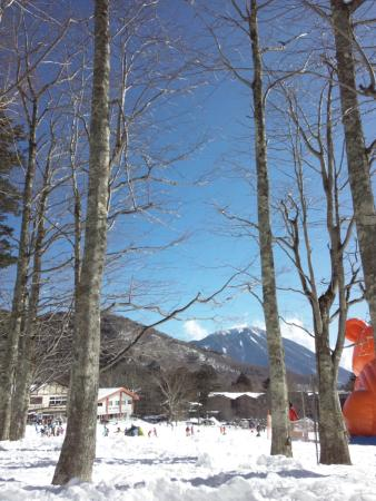 Nikko Yumoto Onesen Ski Resort: 快晴で男体山