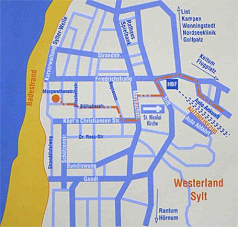 Strandhotel Sylt: Map