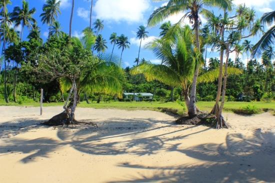 SigaSiga Sands Resort: Spring water shower, hammock & Lounges
