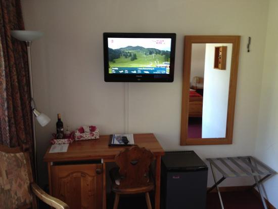 Hotel Alpenhof : Flat TV
