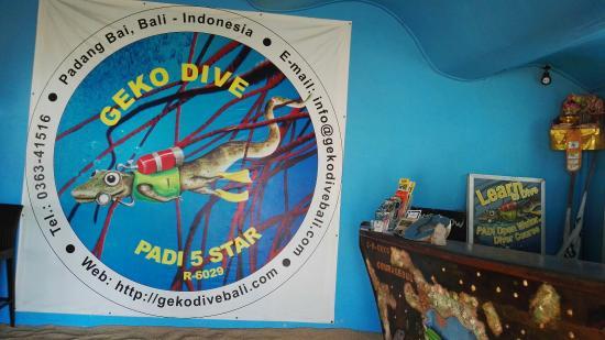 Padangbai, Indonesien: Geko Dive