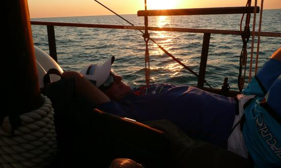 Intombi Pearl Lugger Cruise: Just chillin onboard Intombi