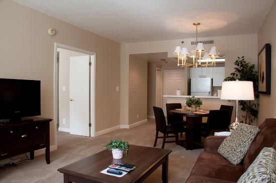 The Lansburgh: Washington Furnished Apartment Living Area
