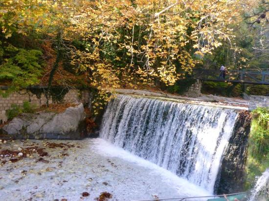Waterfalls in Loutraki Aridaias