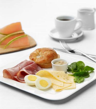 North Canton, Οχάιο: Breakfast Meat & Cheese Plate