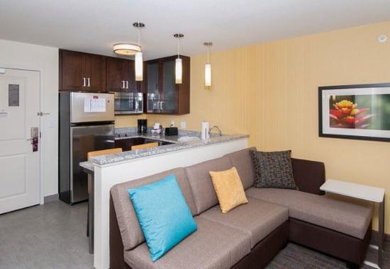 Clifton Park, NY: Studio Suite Living Area & Kitchen