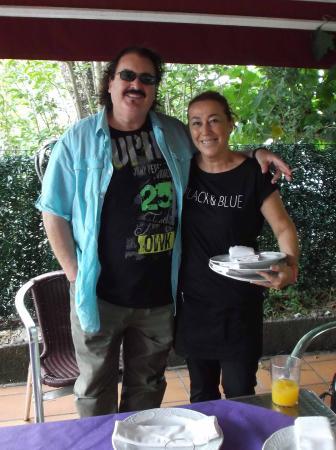 Gajano, Espanha: Con Mayte, titular de Casa Bedia. BOLI