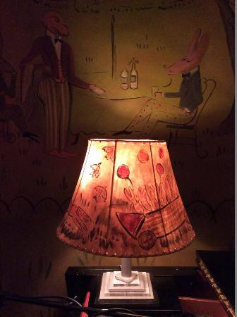 Mural by ludwig bemelman picture of bemelmans bar new york city bemelmans bar even the lamp shades are hand painted by lb mozeypictures Choice Image