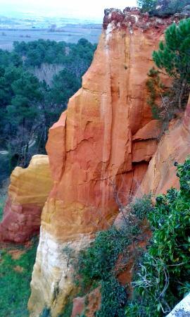 Roussillon, Frankrijk: Desde el mirador antes de entrar en la cantera.