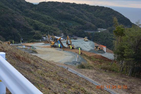 Ikata-cho, Japan: 伊方原発ではヘリポート工事中でした