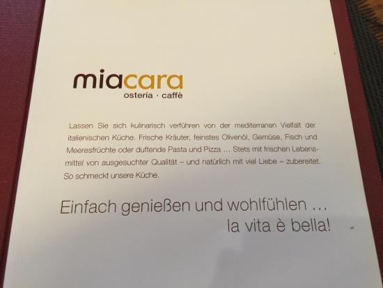 Karte Picture Of Mia Cara Linz Tripadvisor