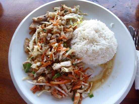 Salade poisson fume photo de chez jules la digue island for Salade poisson