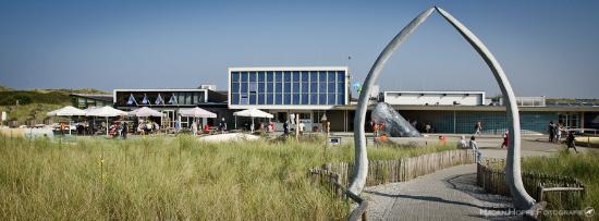De Koog, Nederland: Das Museum von der Dünenseite her gesehen.