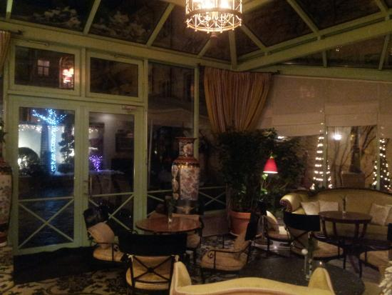 Stikliai Hotel and Restaurant: Зимний сад