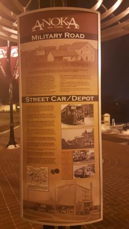 Anoka, MN: Historical Signs near the Rum River