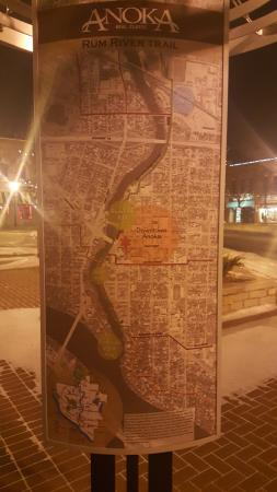 Anoka, MN: Map of things to see along the Rum River