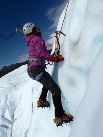 Glacier View, AK: Action shot of our newly acquired ice climbing skills