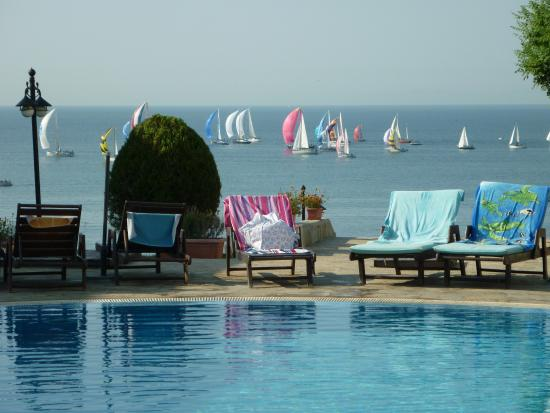 Sun Coast Resort: View fro pool of regatta held in Vlas every year.