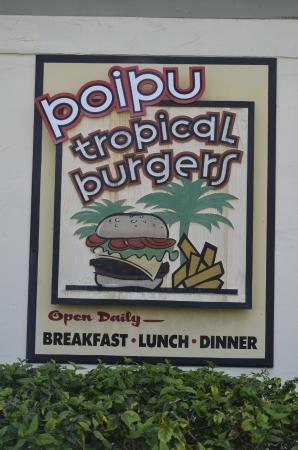 Poipu Tropical Burgers: Poipu Tropical Burger