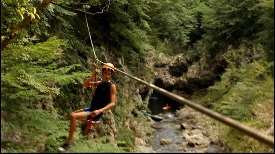 the first zip line - Picture of Canyon Park, Bagni di Lucca ...