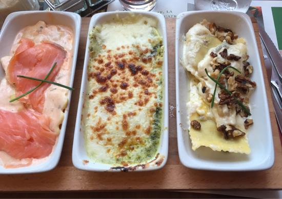 Quetigny, Frankreich: Glace menu enfant, pizza pollo, et plat degustazione