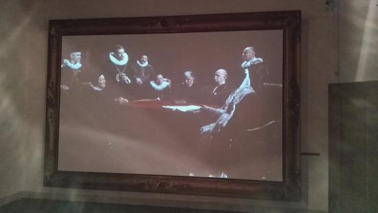 Gouda, Nederländerna: mooi video presentatie in een heeeeel groot schilderij