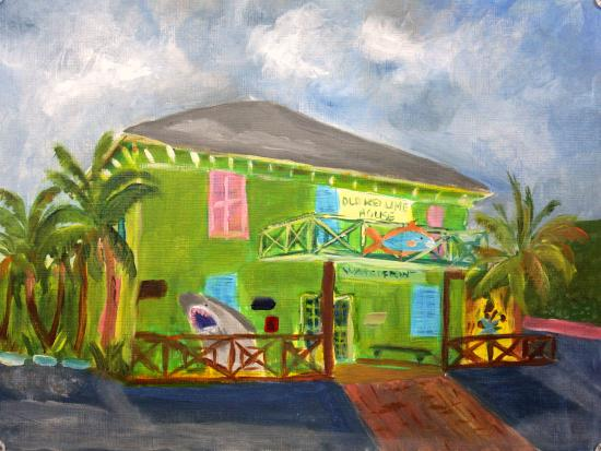 Lantana, FL: Painted on site Jan 2016 with my painting group Plein Air Palm Beach