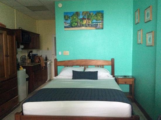 Caye Caulker Condos: Kitchen and bed