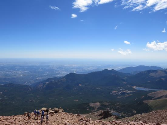 Pikes Peak Cog Railway: View from the top