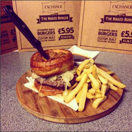 Hanley, UK: Yorkshire Pudding Burger