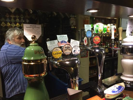 Nantwich, UK: Craft lagers on draught