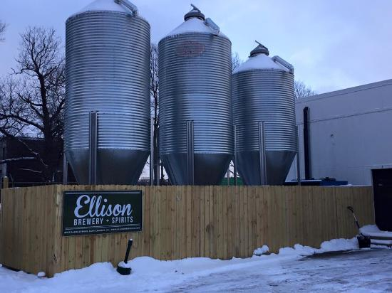 East Lansing, MI: Outside the entrance to Ellison Brewery + Spirits