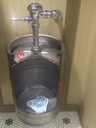 Urinal Made Of An Old Beer Barrel Clever Idea Picture