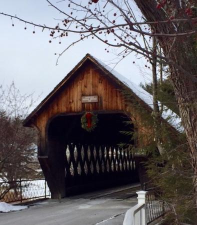 The beautiful Woodstock covered bridge...1 block away