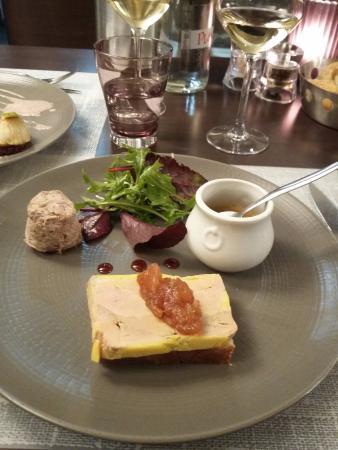 Le P'tit B : Terrine de foie gras de canard à la vanille Bourbon