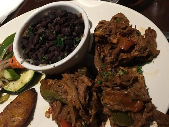 Rick's Desert Grill: Cuban picadillo stuffed - shredded beef - really good.