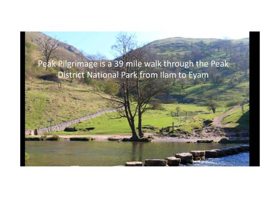 A 39 mile walk through the Peak District National Park from Ilam to Eyam