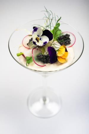 Nieuwegein, Pays-Bas : Cocktail van zalm en haring