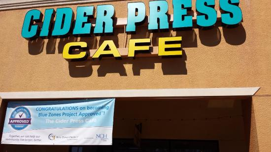 The Cider Press Cafe: Blue Zones Project approved!
